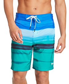 "Men's Bondi Ombré Gradient Stripe 2-Way Stretch UPF 50+ 20"" Board Shorts"