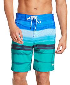 "Speedo Men's Bondi Ombré Gradient Stripe 2-Way Stretch UPF 50+ 20"" Board Shorts"
