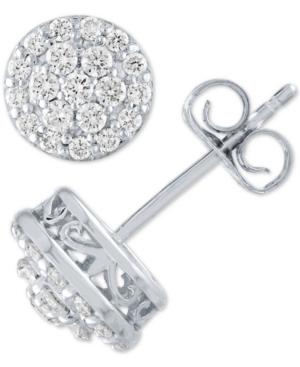 Lab Grown Diamond Cluster Halo Stud Earrings (1/2 ct. t.w.)