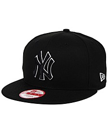 New York Yankees Black White 9FIFTY Snapback Cap