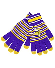Minnesota Vikings Acrylic Stripe Knit Glove