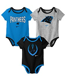 Baby Carolina Panthers Icon 3 Pack Bodysuit Set