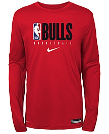 Big Boys Chicago Bulls Practice Long Sleeve T-Shirt