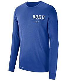 Men's Duke Blue Devils Dri-FIT Basketball Long Sleeve T-Shirt