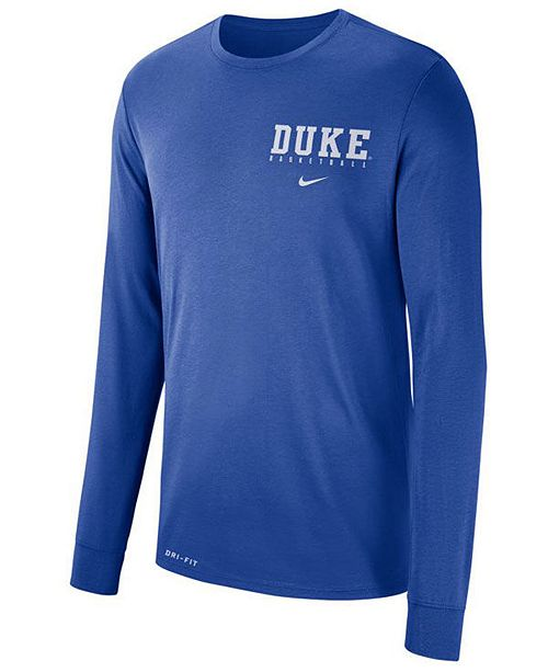 Nike Men's Duke Blue Devils Dri-FIT Basketball Long Sleeve T-Shirt