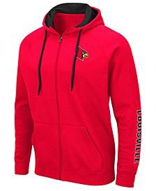 Men's Louisville Cardinals Comic Full-Zip Hooded Sweatshirt
