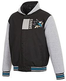 Men's San Jose Sharks 2-Tone Reversible Fleece Jacket