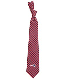 New England Patriots Poly Gingham Tie