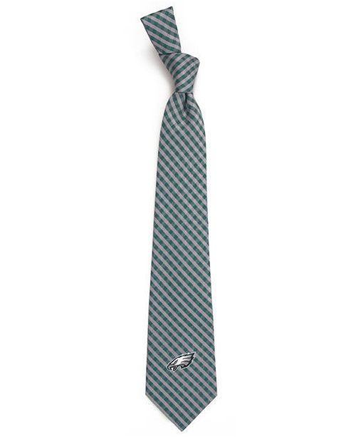 Eagles Wings Philadelphia Eagles Poly Gingham Tie