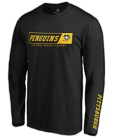 Men's Pittsburgh Penguins Chase Down Long Sleeve T-Shirt