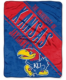 Northwest Company Kansas Jayhawks Micro Raschel Section Blanket
