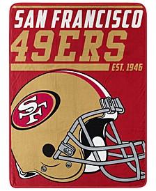 Northwest Company San Francisco 49ers Micro Raschel 40 Yard Dash Blanket