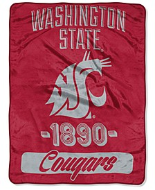 Washington State Cougars Micro Raschel Varsity Blanket