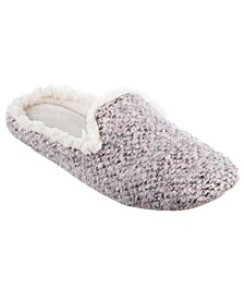 Isotoner Heathered Knit Jessie Hoodback Slipper, Online Only