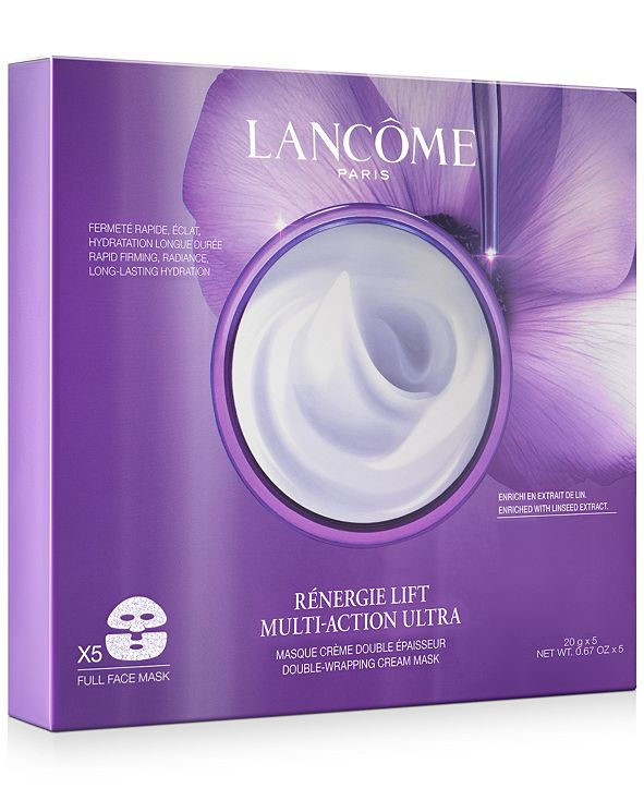 Lancome Rènergie Lift Multi-Action Ultra Double-Wrapping Cream Face Mask, 5-Pk.