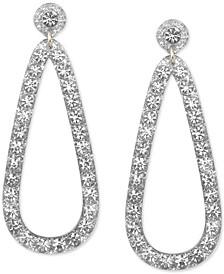 Gold-Tone Glitter Resin Teardrop Drop Earrings
