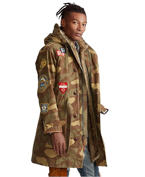 Polo Ralph Lauren Men's Camo Canvas Parka