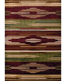 "Contours Native Chic 510 28634 28C Burgundy 2'7"" x 7'4"" Runner Rug"