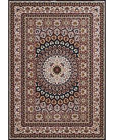 "Antiquities Jaipur 1900 01664 912 Navy 7'10"" x 10'6"" Area Rug"