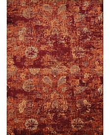 "Bridges Via Vicosa 3001 00136 1215 Crimson 12'6"" x 15' Area Rug"