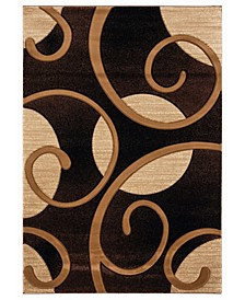 "Bristol Riley 2050 10350 28C Brown 2'7"" x 7'4"" Runner Rug"