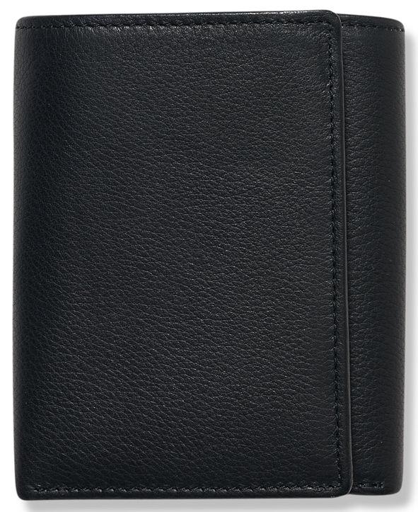 Perry Ellis Portfolio Men's Leather Park Avenue Trifold Wallet