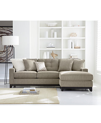 Clarke Fabric Sectional Sofa Living Room Furniture