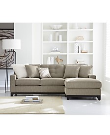 Clarke Fabric Sectional Sofa Collection Created For Macys