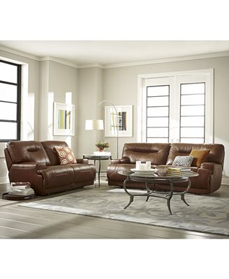 ricardo leather sofa living room furniture collection, power
