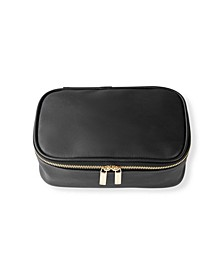 Large Vegan Leather Travel Jewelry Case