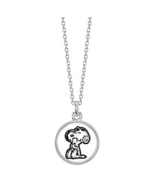 "Snoopy and Woodstock Fine Plated Silver  ""Forever Friends"" Pendant Necklace, 16"" + 2"" Extender for Unwritten"