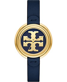 Women's The Miller Navy Leather Strap Watch 36mm