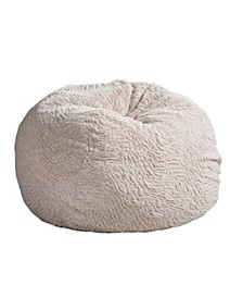 3ft Shag Plush Bean Bag
