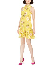 Petite Floral Halter Dress