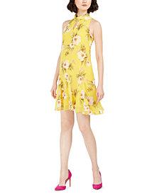 Taylor Petite Floral Halter Dress