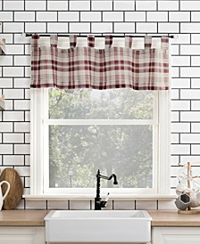 "Blair Farmhouse Plaid 52"" x 14"" Semi-Sheer Valance"