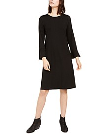Round-Neck Bell-Sleeve Dress
