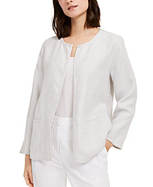 Eileen Fisher Organic Open-Front Jacket, Created For Macy's