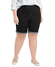 Plus Size Ella Denim Cuffed Shorts, Created for Macy's