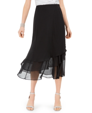 1920s Skirts, Gatsby Skirts, Vintage Pleated Skirts Msk Tiered Skirt $21.24 AT vintagedancer.com