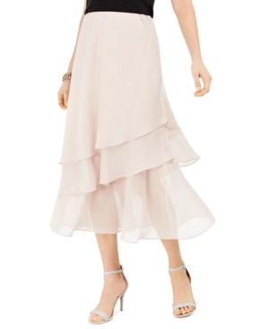 1930s Style Skirts : Midi Skirts, Tea Length, Pleated Msk Tiered Skirt $21.24 AT vintagedancer.com