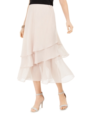 Retro Skirts: Vintage, Pencil, Circle, & Plus Sizes Msk Tiered Skirt $59.00 AT vintagedancer.com
