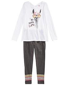 Big Girls Llama T-Shirt & Leggings, Created For Macy's