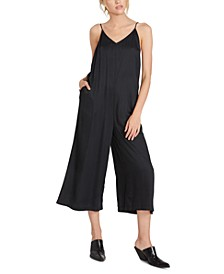 Juniors' Madly Yours Open-Back Jumpsuit