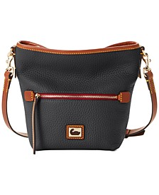 Pebble Leather Mini Hobo Crossbody