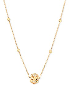 "Openwork Prism 17"" Pendant Necklace in 10k Gold"