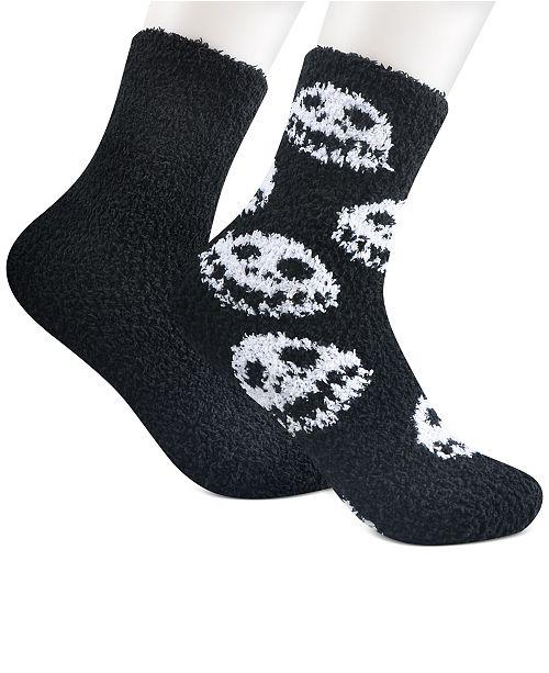 Planet Sox Women's 2-Pk. Nightmare Before Christmas Jack is Back Softee Crew Socks