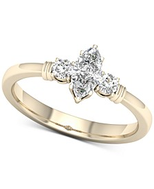 Diamond Marquise Engagement Ring (1/2 ct. t.w.) in 14k Gold