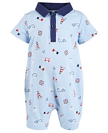 Baby Boys Cotton Nautical Sunsuit, Created for Macy's