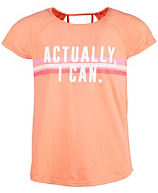 Big Girls Graphic-Print Strappy-Back T-Shirt, Created For Macy's